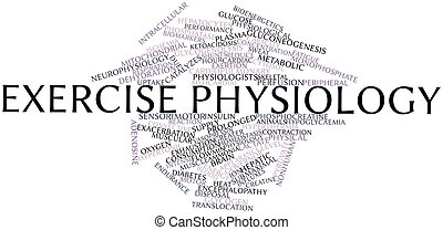 Exercise physiology - Abstract word cloud for Exercise...