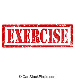 Exercise-stamp - Grunge rubber stamp with word Exercise, ...