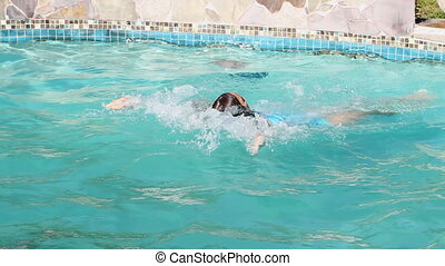 Exercise Swimming Backstroke