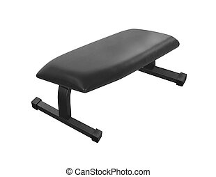 Exercise weight bench isolated on white