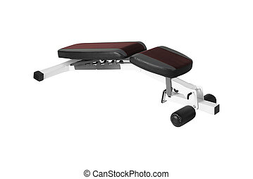 Exercise weight bench isolated