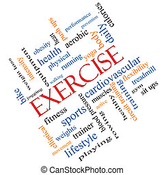 Exercise Word Cloud Concept Angled