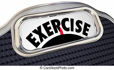 Exercise Word Scale Physical Fitness Lose Weight Active Lifestyle Regimen