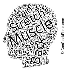Exercise Your Back Pain Away text background wordcloud...