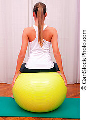 exercises control basin trunk with bobath ball fitball stabilization exercises