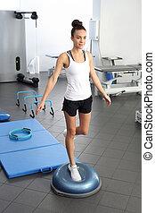 exercises, gym., поза, верный, rehabilitation.