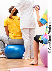 exercises, with, patients