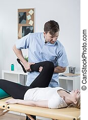 Exercises with physiotherapist