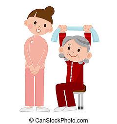 exercising, старшая