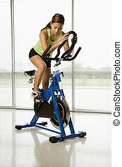 exercising., 女