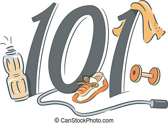 Exercising 101 - Illustration Depicting the Basics of...