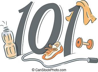 Exercising 101 - Illustration Depicting the Basics of...