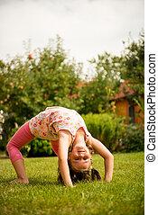 Exercising child