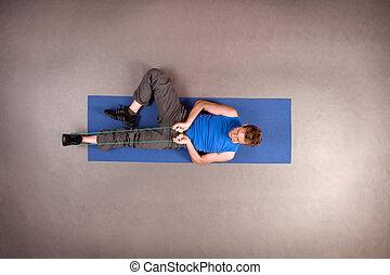 Exercising fit man