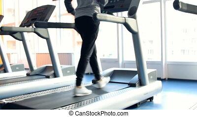 exercising., gymnase, gens