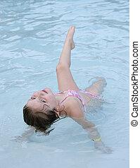 Exercising in pool