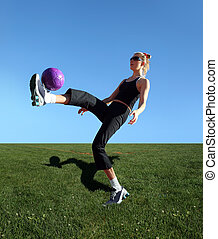 Exercising with the ball