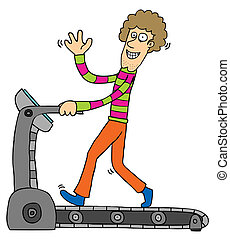 Exercising with Treadmill