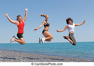 exercising women