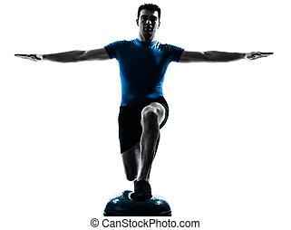 exercisme, séance entraînement, homme, fitness, attitude