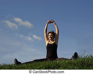 exercitar, ao ar livre