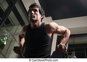 exercitar homem, arme músculos, 4