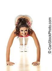 exercitar, menina