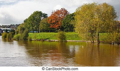 Exeter Devon England UK - Autumn at Exeter Quay Devon...