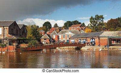 Exeter Devon England UK - Exeter Quayside Devon England UK...