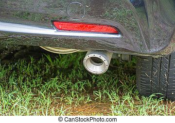 Exhaust of car