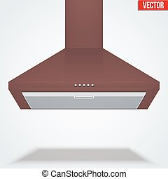 Exhaust range cooker hood