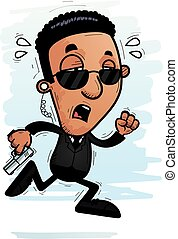 Exhausted Cartoon Black Agent
