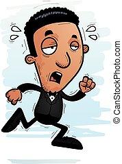 Exhausted Cartoon Black Groom