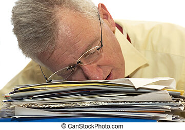 Exhausted senior businessman - An exhausted senior...