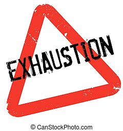 Exhaustion rubber stamp