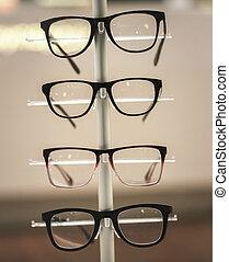 exhibición, anteojos