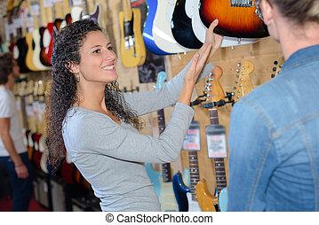 exhibición, guitarras