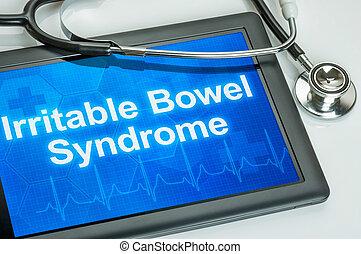 exhibición, intestino, diagnóstico, tableta, síndrome, irritable
