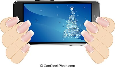 exhibición, saludo, navidad
