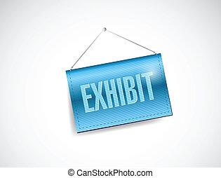 exhibit hanging banner sign illustration design