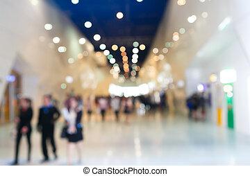 exhibition fair blurred