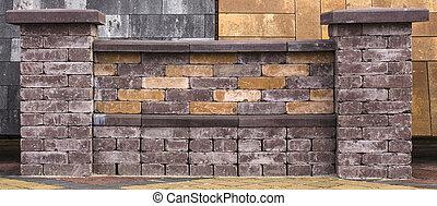 Exhibition fence sample from decorative concrete blocks