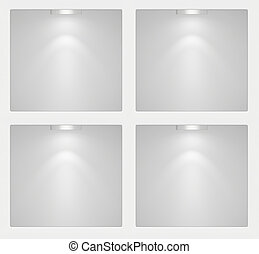 Exhibition niche with lighting for product samples