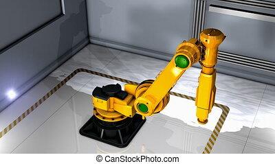 exhibition., robotique, artiste, bras, industrie, création,...
