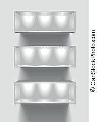 exhibition shelves - detailed illustration of exhibition...