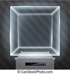 Exhibition showcase hologram - The exhibition showcase a...