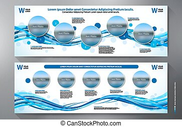Exhibition Stand Displays Template for Print. Vector and...