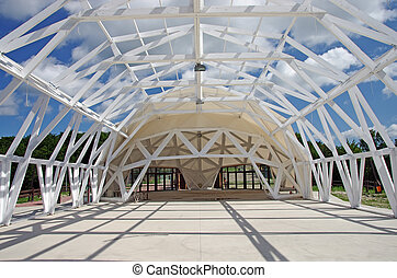 Exhibition tent construction (dome tent) - wood frame