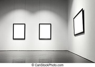 exibição, corredor