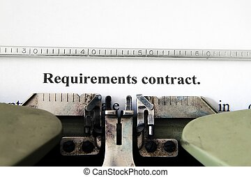 exigence, contrat